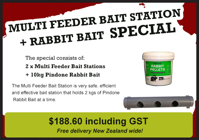 Click here for more info on the Bait Station and Bait Special - Pest Go NZ